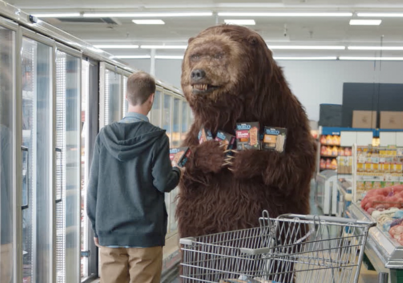 Bear In The Freezer Aisle